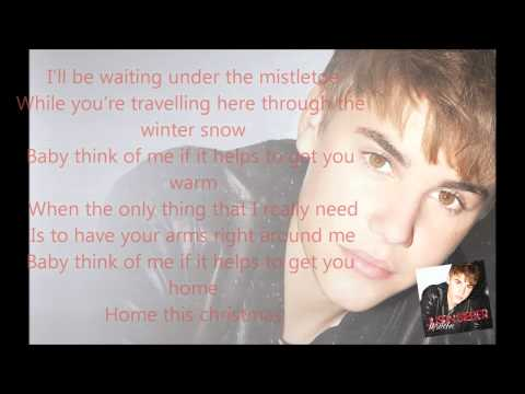 Justin Bieber feat The Band Perry - Home This Christmas (lyrics on the Screen)