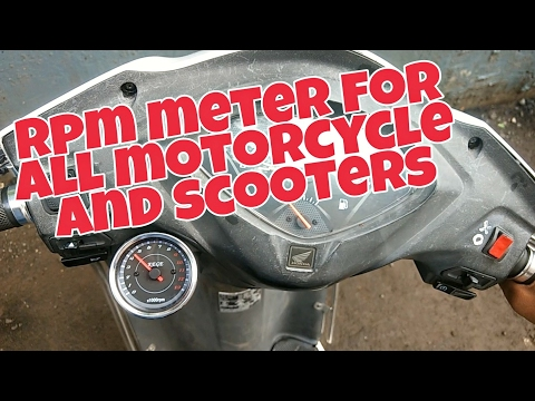 How to install Tachometer (Rpm meter) on Motorcycle's and scooters   Honda Activa 3g