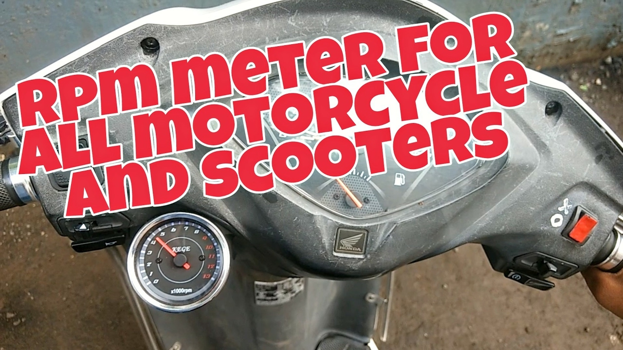 how to install tachometer rpm meter on motorcycle s and scooters honda activa 3g [ 1280 x 720 Pixel ]