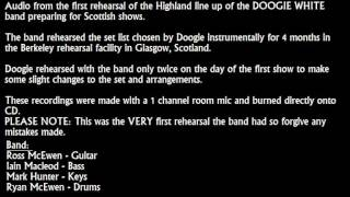Doogie White band (Scotland) 1st rehearsal audio 2010 - BURN