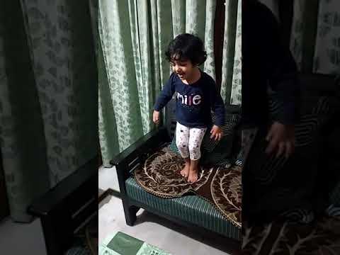 2-year old baby singing National Anthem