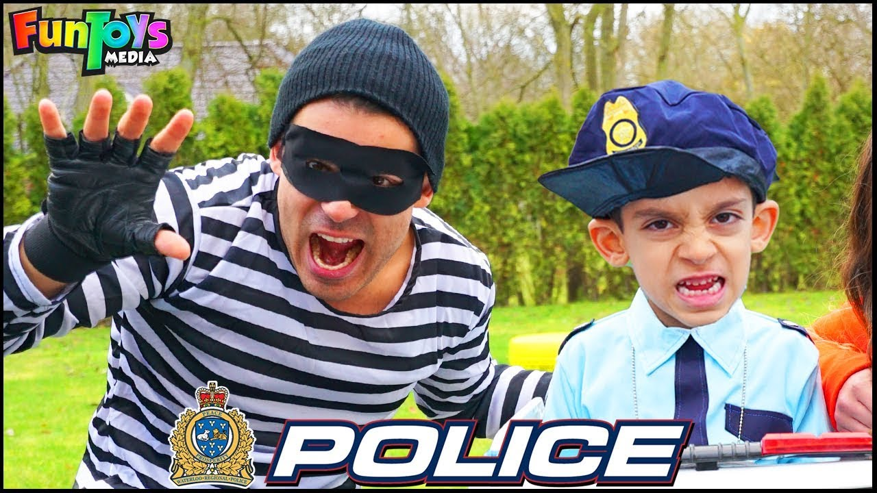 Download Policeman Jason Protects Toys with Police Car | Funny Kids Story