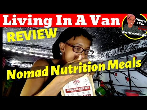 Solo Woman Living in a Van | Review | Nomad Nutrition Meal Pouch