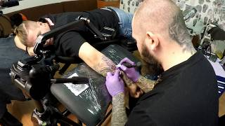 TATTOO TIMELAPSE ! Dor Tatuajele Cat Costa un tatuaj