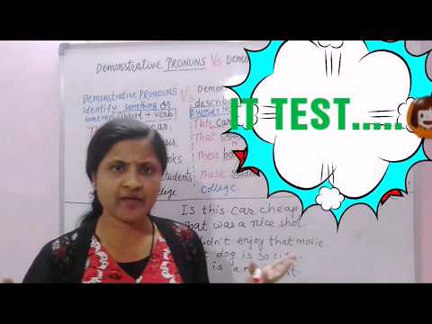 kya hai Demonstrative pronoun and Demonstrative Adjective/this that these those in hindi