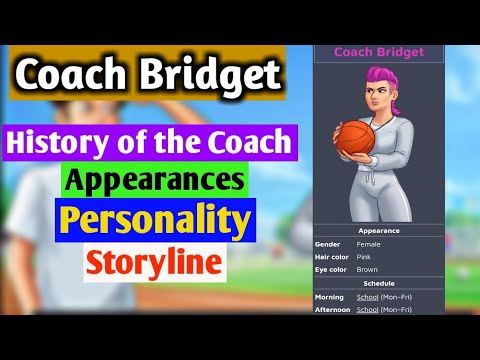 Coach Bridget   Storyline Update   Character Overview   Summertime Saga 0.20.1