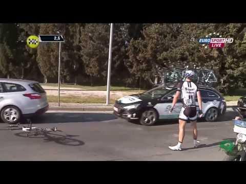 Stage 2 - Tirreno-Adriatico 2014 - Marcel Kittel throwing his bike