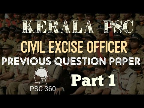 Keala PSC|| Civil Excise Officer || Previous Question Paper