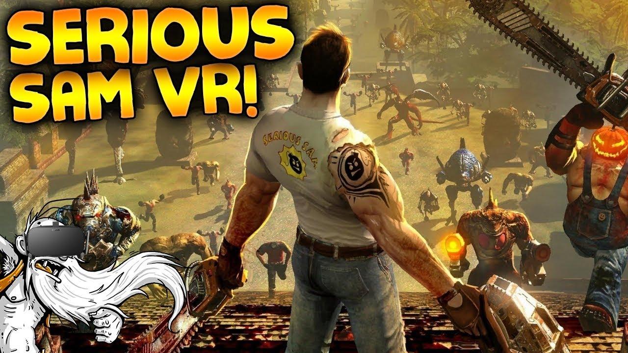 "Download Serious Sam VR Gameplay - ""DUAL WIELDING MINIGUNS!!!"" - Let's Play Serious Sam VR"