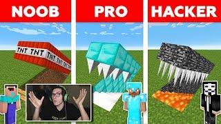 Minecraft NOOB vs PRO vs HACKER: TRAMPA SECRETA DESAFIO en MINECRAFT