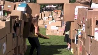 World's Largest Cardboard Box Fort