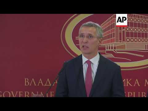 NATO chief: Macedonia can't join until Greece issue resolved