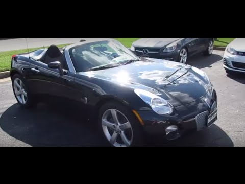 2008 Pontiac Solstice 5 Spd Walkaround Start Up Tour And Overview You