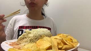 Pasta and Chips / 먹방 / АСМР / ASMR