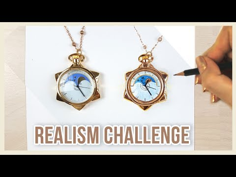 ⭐THE REALISM CHALLENGE!⭐ Drawing & Painting Sailor Moon's Pocket Watch | Art Journal Thursday Ep. 7