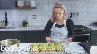 Brooke Williamson Makes Matcha Glazed Cinnamon Rolls | Cook Like a Pro | Bon Appetit