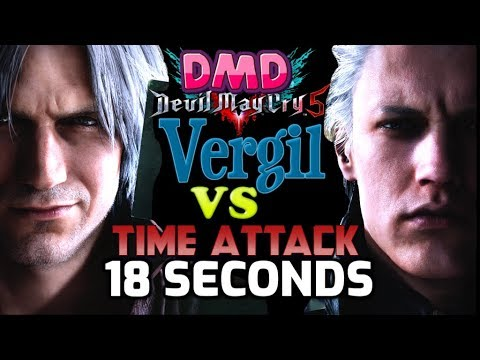 [DMD VERGIL IN 18 SECONDS KILL WR] Devil May Cry 5 Dante Must Die Mission 19 No Damage SSS thumbnail