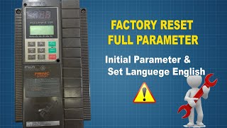 How to reset parameter setting for fuji 5000g11 factory reset