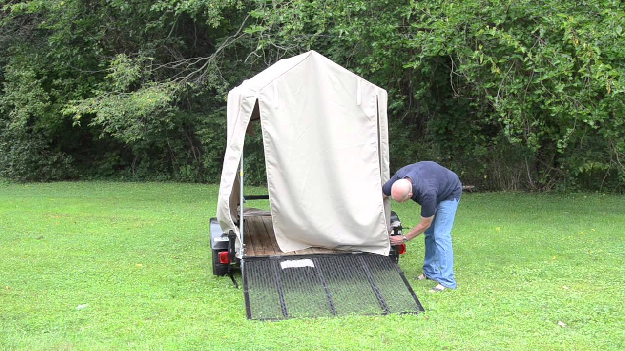 Erecting The Flatbed Tent Youtube