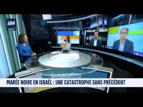 Anne Baer intervient sur I24News à propos du déversement de Mazout sur les côtes israéliennes.