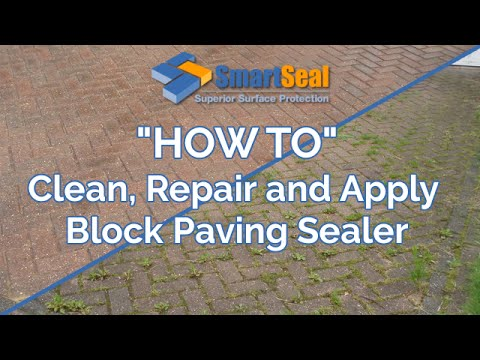 How to clean, maintain and apply sealer to Block Paving driveways and patios