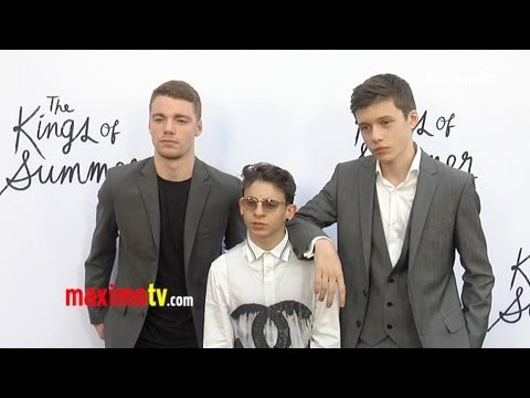 """""""The Kings of Summer"""" Premiere Moises Arias, Nick Robinson, Gabriel Basso, Erin Moriarty"""