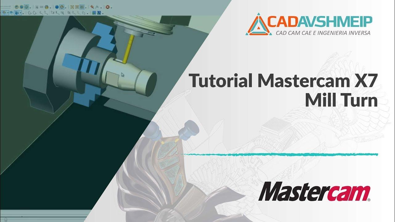tutorial mastercam mastercam mill turn youtube rh youtube com