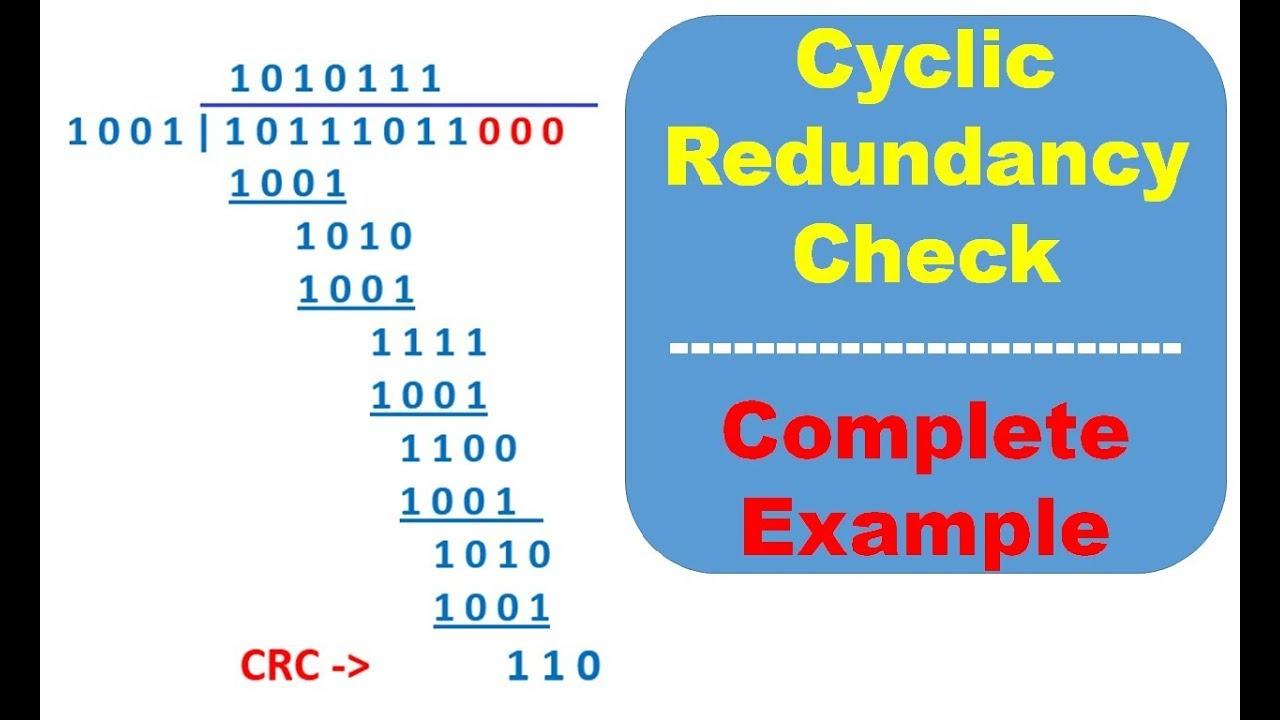 CRC Calculation Example, Cyclic Redundancy Check Division, Error Control,  Detection Correction, Data