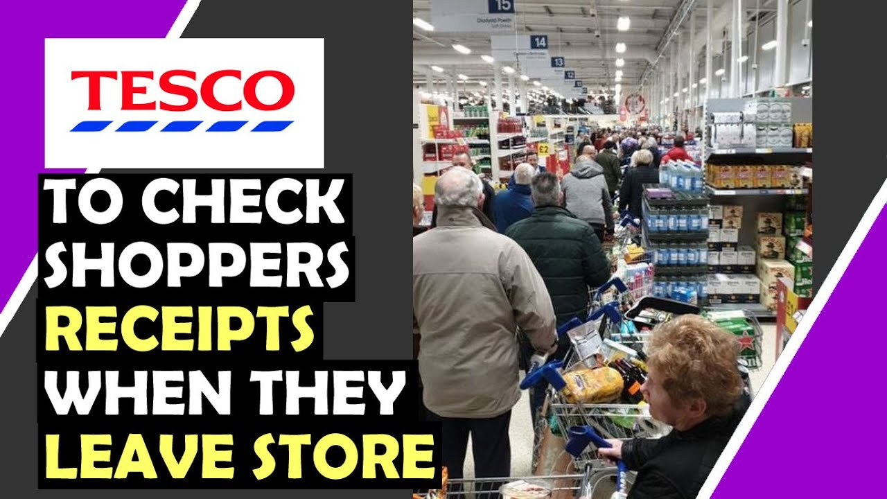 TESCO To CHECK ALL Shoppers Receipts When Leave Store / Hugo Talks #lockdown