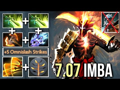 NEW Omnislash 7.07 Battle Fury Juggernaut vs Phantom Cancer Crazy Build by Kingrd WTF Dota 2
