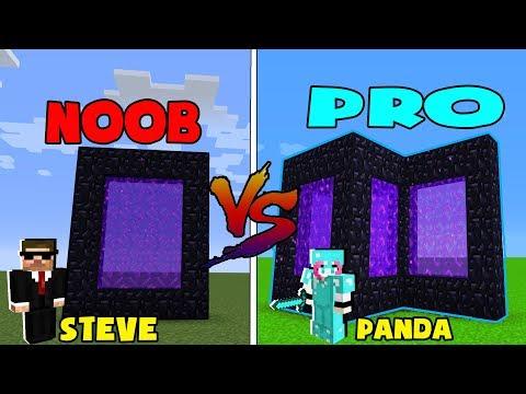 CÁNH CỔNG ĐỊA  NGỤC CỦA PRO TRONG MINECRAFT*NOOB VÀ PRO*PANDA VÀ STEVE | Thử Thách Panda