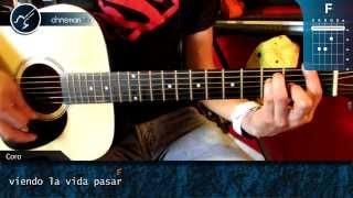 """Cómo tocar """"Durmiendo con la Luna"""" de Elefante en Guitarra (HD) Tutorial - Christianvib"""