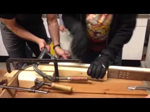 Steam bending Walnut wood