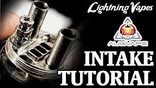AugVape Intake RTA Build & Wicking Tutorial - By Lightning Vapes