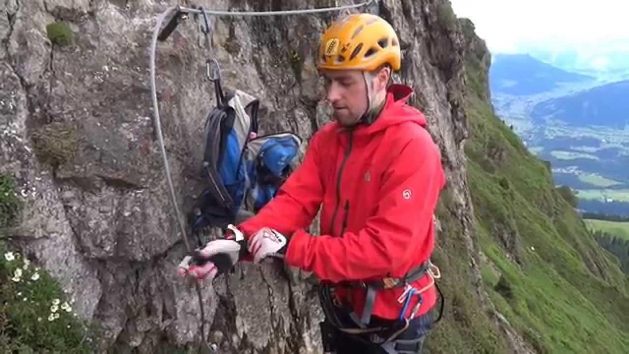 Klettersteig Ausrüstung : Die richtige klettersteigausrüstung via ferrata youtube