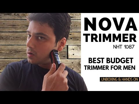 Nova NHT 1087 Turbo Power Trimmer | For Men | Nova Trimmer