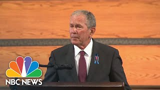President Bush Remembers Rep. John Lewis As Someone Who 'Always Looked Outward' | NBC News
