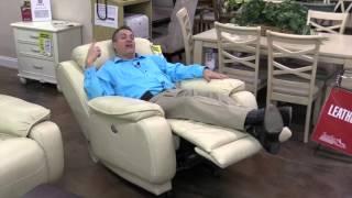 Hudsons Furniture Sanford, leather power recliner, Orlando Furniture