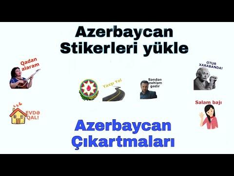 Azərbaycan stikerləri yükləmək/ Azeri stikerleri yukle/ maraqli stikerler yukle