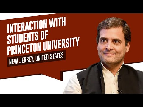 Congress VP Rahul Gandhi in conversation at Princeton University | Full Interaction and Q&A |