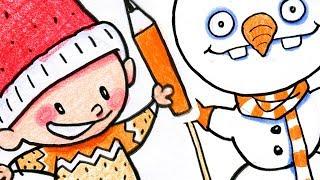 Øisteins Juleblyant - Lær å tegne snømann, jul og vinter + Hvordan lage julepynt