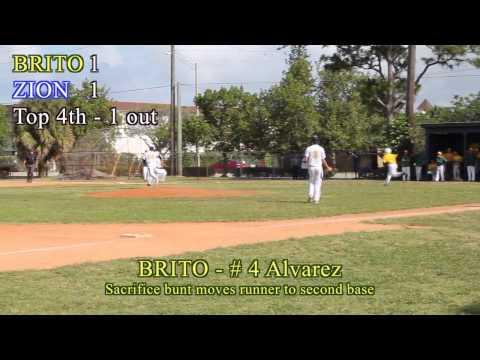 2014 Baseball Region 4-2A Final: Brito Miami Private School At Zion Lutheran School