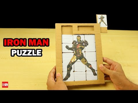 How to Make Slide Puzzle from Cardboard - DIY Puzzle Game