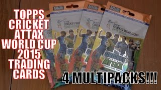 Topps CRICKET ATTAX ICC WORLD CUP 2015 Trading Cards ☆ 4x BLISTER PACK OPENING!! ☆