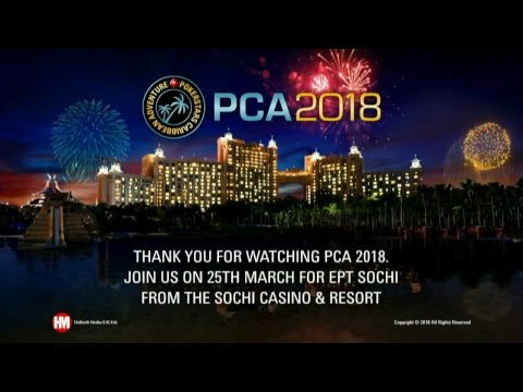Mesa Final Main Event PCA 2018 (cartas expostas)