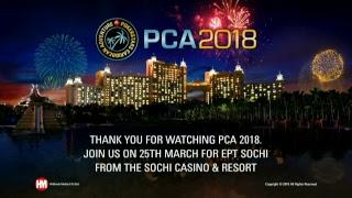 Mesa Final Main Event PCA 2018 (cartas expostas)