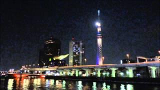 Tokyo Skytree Full Moon UFO パールスカイツリー UFO 満月 東京スカイ...
