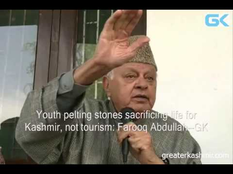 Youth pelting stones sacrificing life for Kashmir, not tourism: Farooq Abdullah