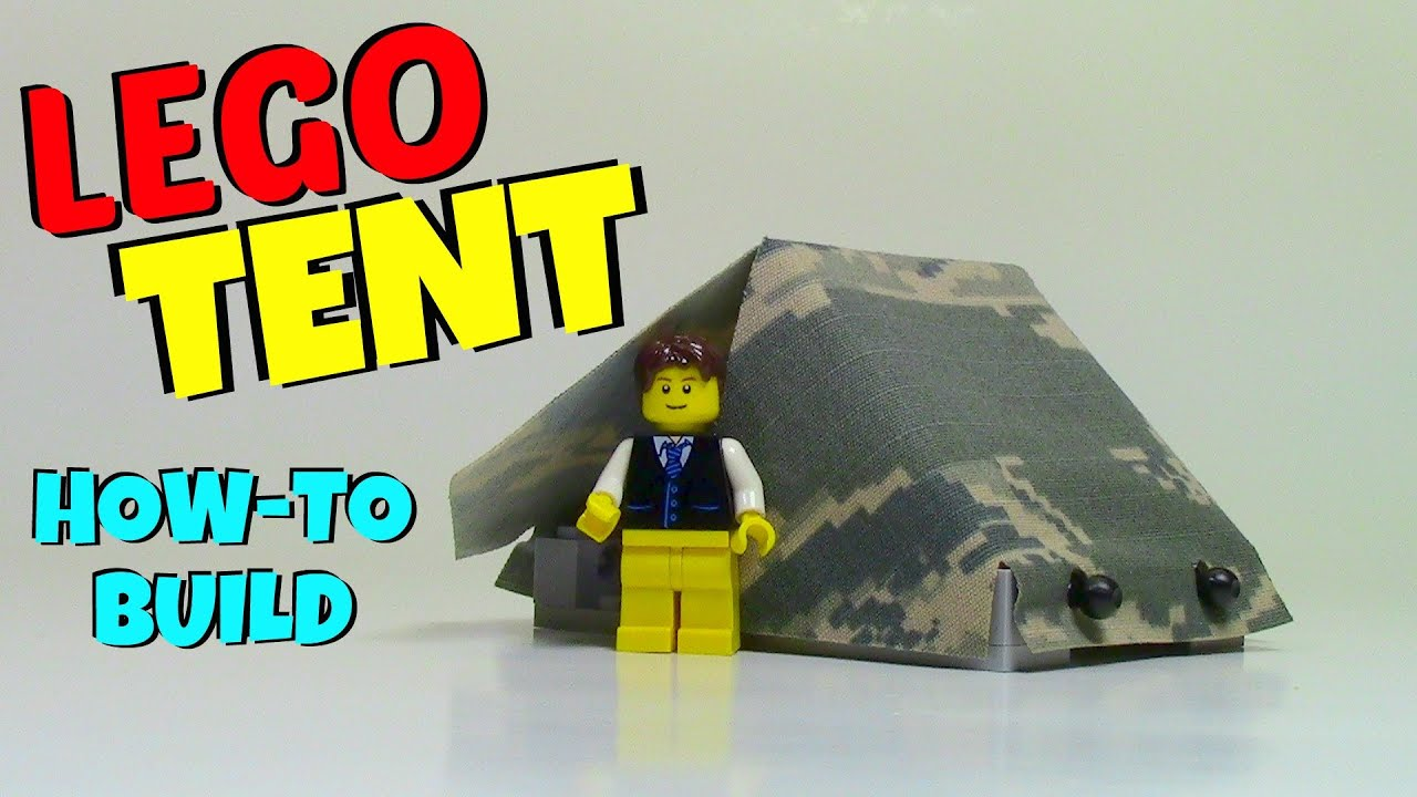 HOW TO BUILD A LEGO TENT - YouTube