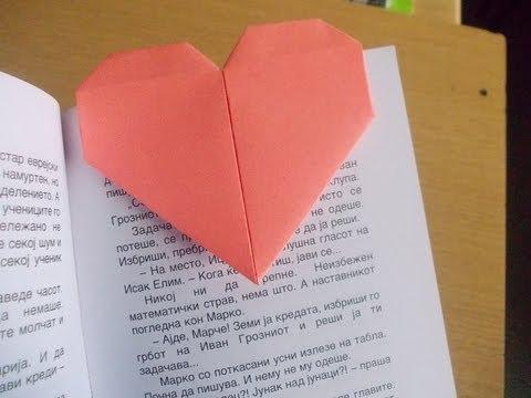 Origami Bookmark Heart Youtube